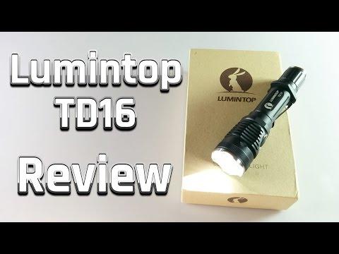 Lumintop TD16 Review - High Power LED XP-L Hi - Hochleistungs-Taschenlampe