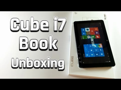 Cube i7 Book (Windows 10 Tablet) Unboxing