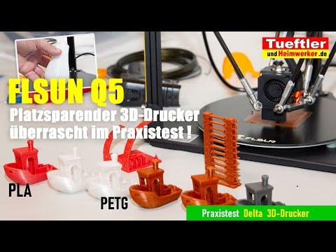 Flsun Q5 Test: Einstieg und Praxistest zum preiswerten Delta 3D-Drucker