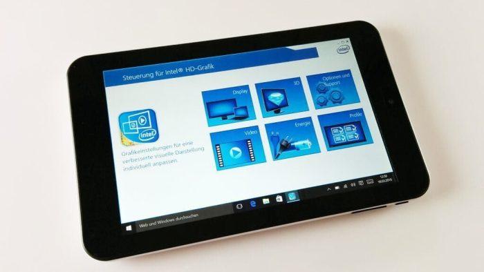 iRULU WalknBook 7 Zoll Display Intel Grafik2