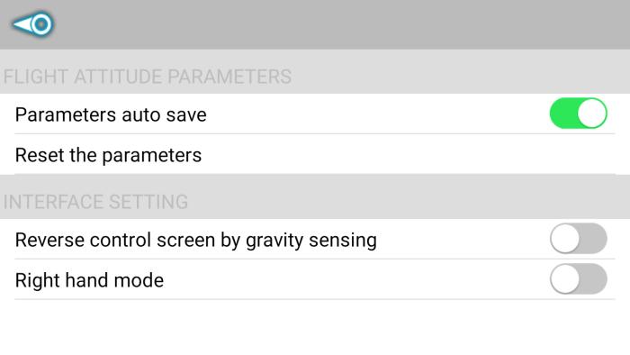 CX-10WiFi app settings