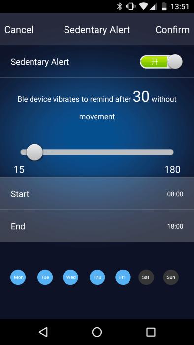 ELE-App Bewegungserinnerung
