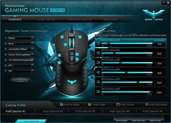 Havit Gaming Maus Software Treiber DPI