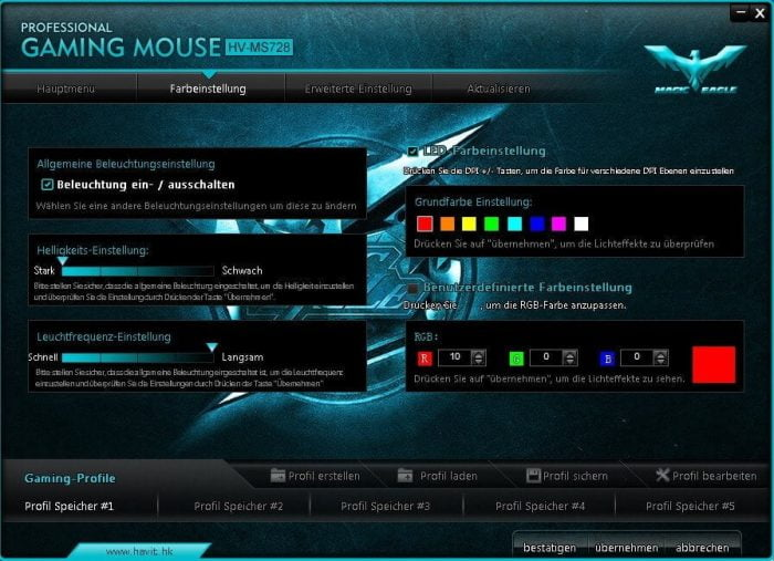 Havit Gaming Maus Software Treiber Farben