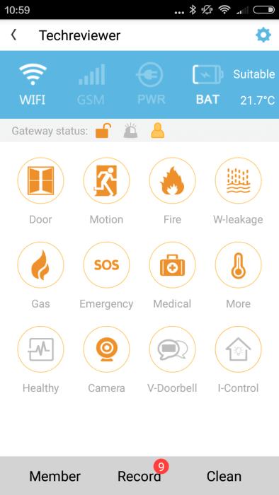 Vcare App Übersicht