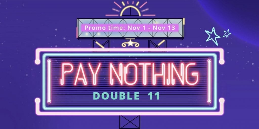 GearBest Singles Day Promotion Pay Nothing