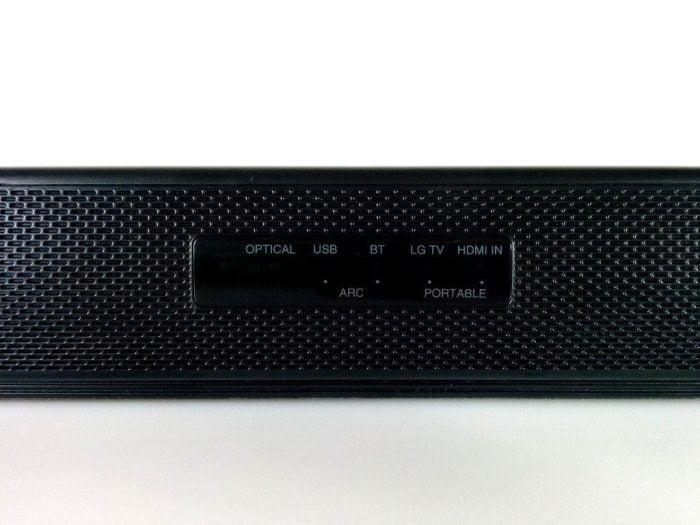LG Soundbar Wiedergabequellen LED