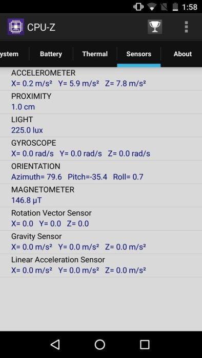 Sensoren Test