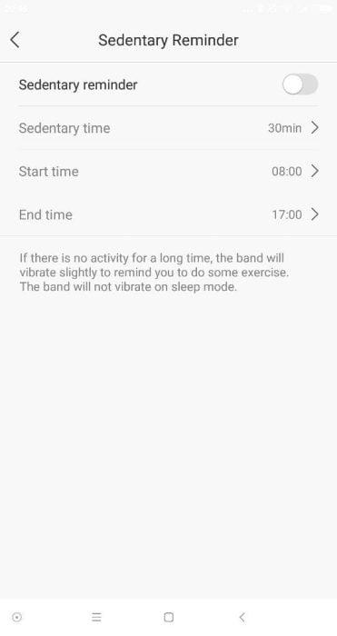 Lenovo App Bewegungserinnerung