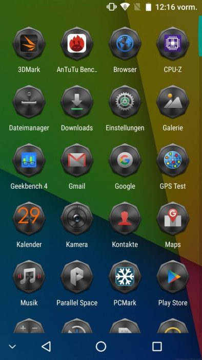 Android 7 App-Drawer