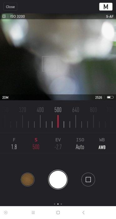 Yi Mirrorless App Live-Bild