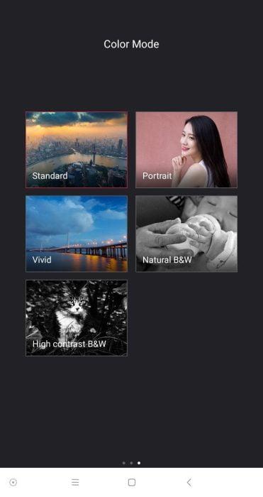 Yi Mirrorless App Porträt