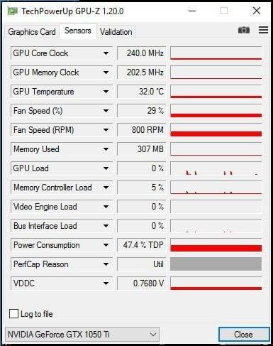 GPU-Z Idle