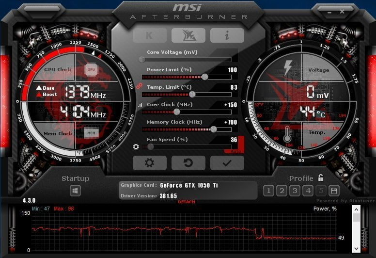MSI Afterburner Overclocked
