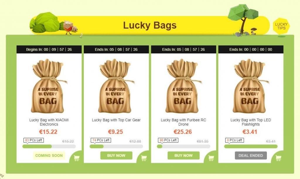GearBest Herbst Sale Lucky Bags