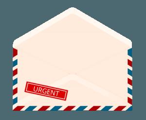 Kontaktformular Briefumschlag