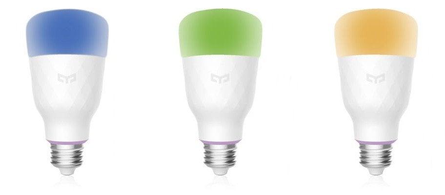 Neue Yeelight RGBW LED-Birne mit verschiedenen Farben