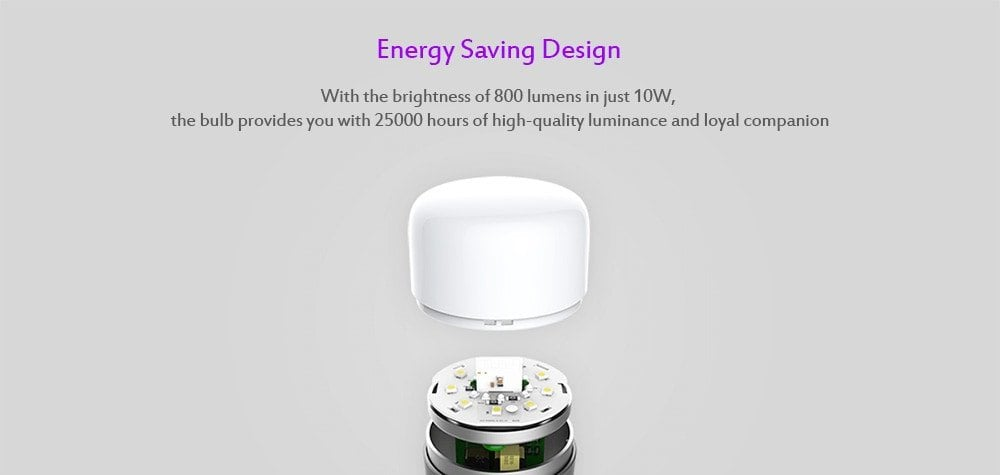 Geringerer Stromverbrauch der neuen Yeelight LED