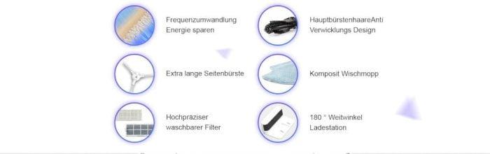 Borstels en filters van de 360 robotstofzuiger