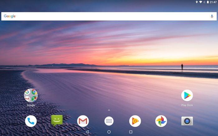 Android 8 Benutzeroberfläche des Chuwi Hi9 Air