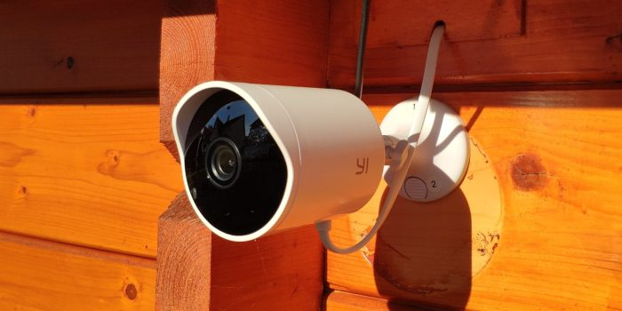 Externally attached YI outdoor camera