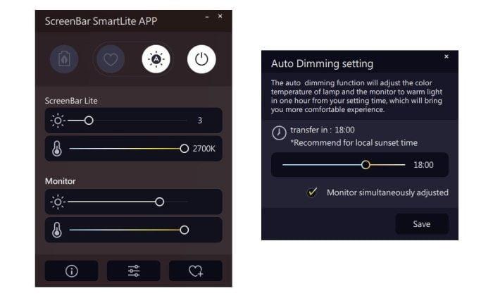 BenQ ScreenBar Lite App Software