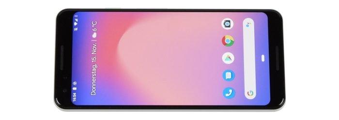 Google Pixel 3-voorzijde