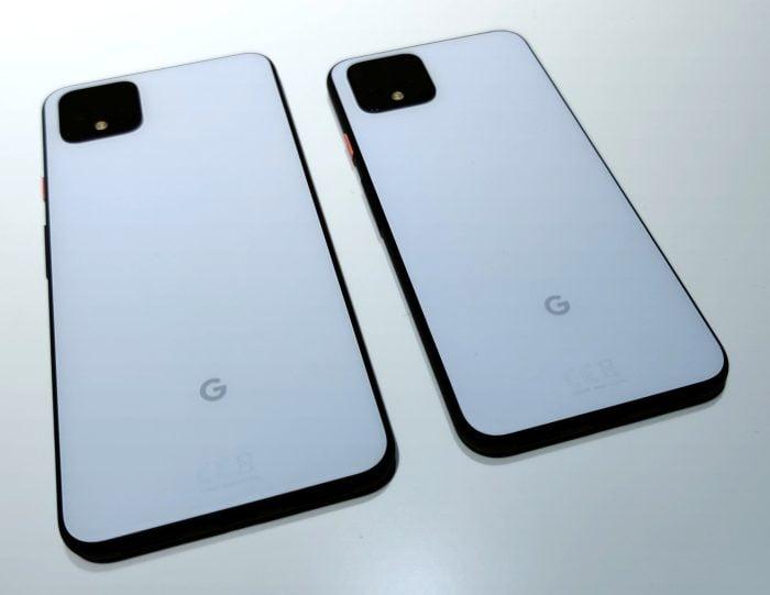 Google Pixel 4 versus XL. Pixel 4