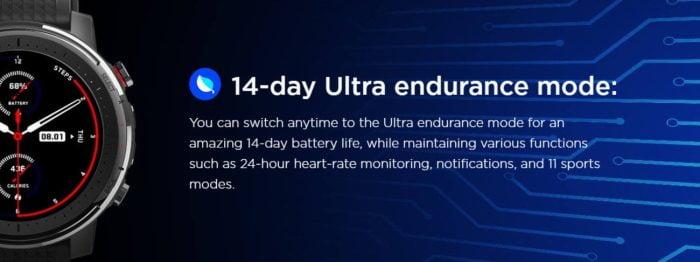 Amazfit Stratos 3 Mode Ultra Endurance