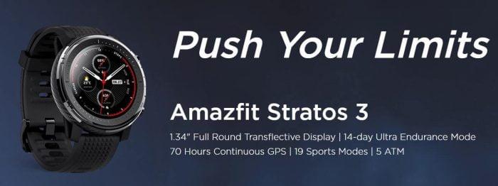 Test Amazfit Stratos 3