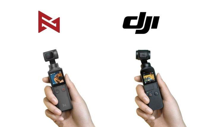 Links FIMI Palm - Rechts DJI Osmo Pocket