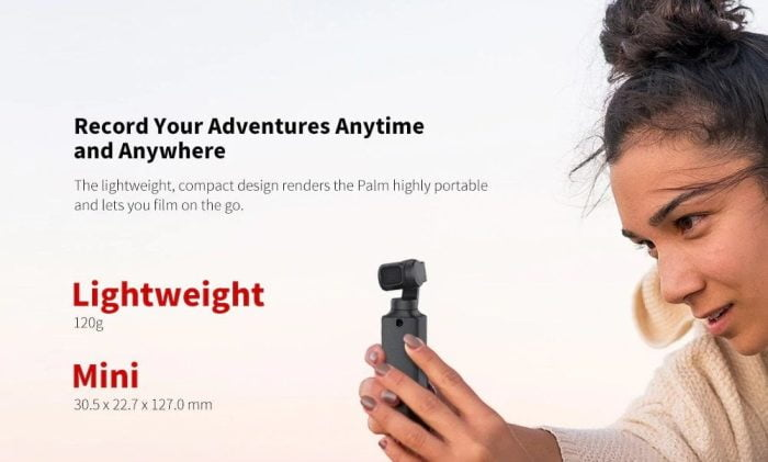 Super leicht. Der FIMI Palm wiegt gerade einmal 120g.