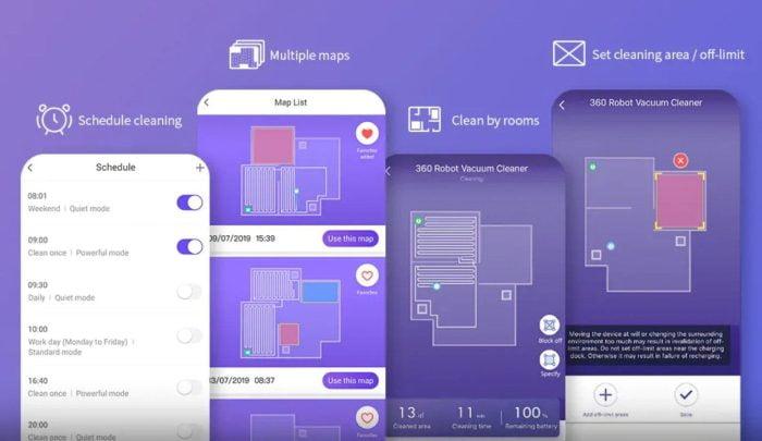360 S7 vacuümrobot met app-bediening