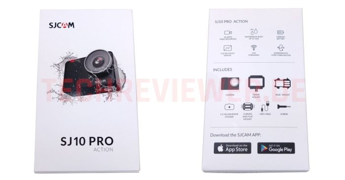 Ön ve arka SJ10 Pro ambalajı