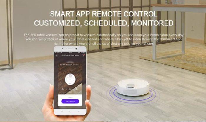 De 360 S6 kan ook op afstand worden bediend met behulp van de app.