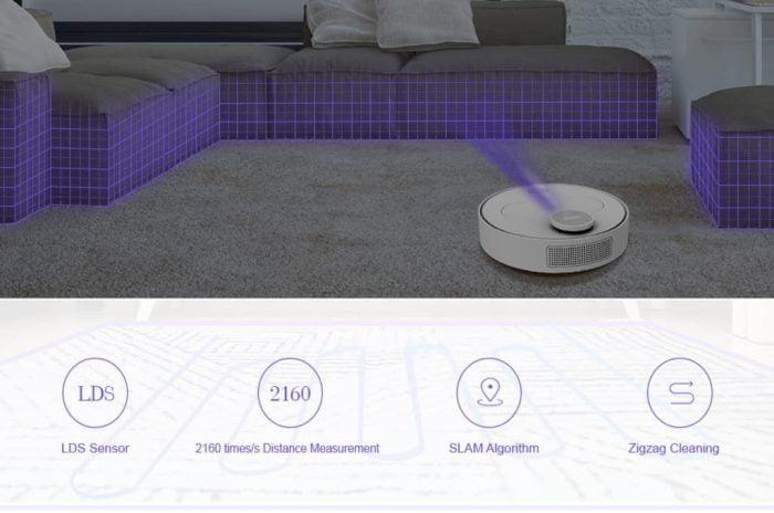 De 360 S6 robotstofzuiger met slimme obstakeldetectie