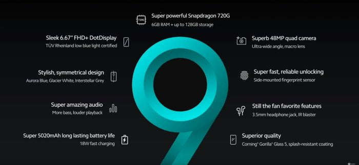 Redmi Note 9S specifications