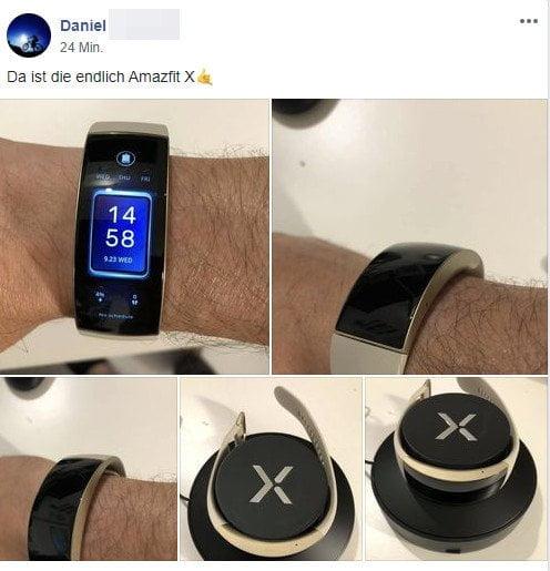 Amazfit X Smartwatch-backer