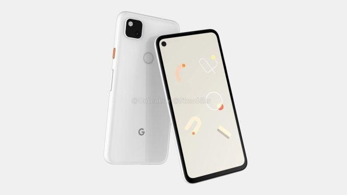 Een renderfoto laat zien hoe de Google Pixel 4a eruit zou kunnen zien.