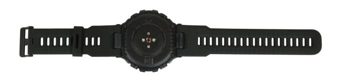 The bottom of the smartwatch.