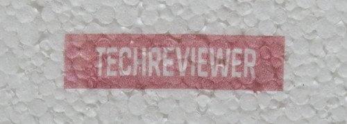 Farbdruck auf Styropor.
