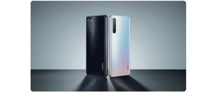 OPPO Find X2 Lite back in the colors Moonlight Black and Pearl White