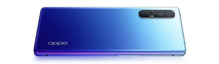 The OPPO Find X2 Neo in Starry Blue.