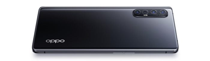 The OPPO Find X2 Neo in Moonlight Black.