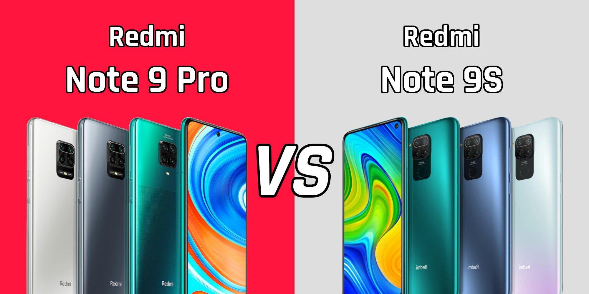 Aqui nós comparamos o Xiaomi Redmi Note 9 Pro com o Redmi Note 9S.