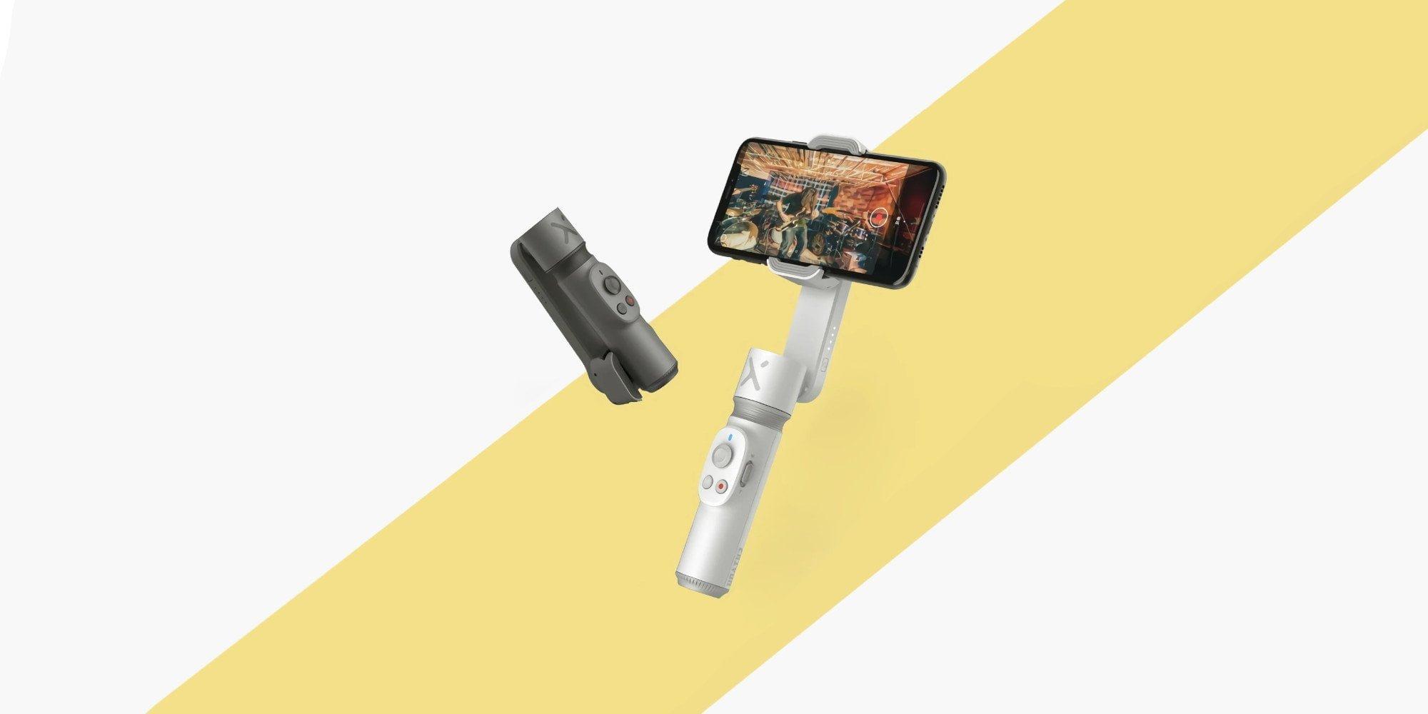 De Zhiyun Smooth X smartphone-cardan met telescopische verlenging.