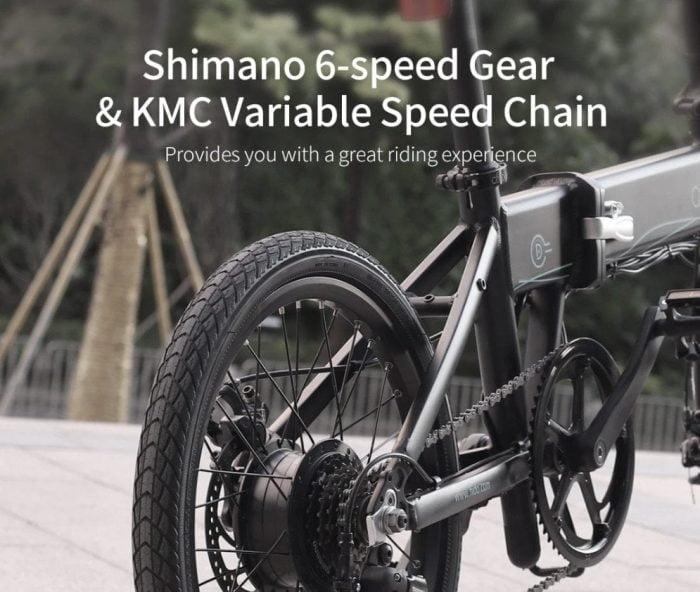 Shimano 6-Gang Getriebe.