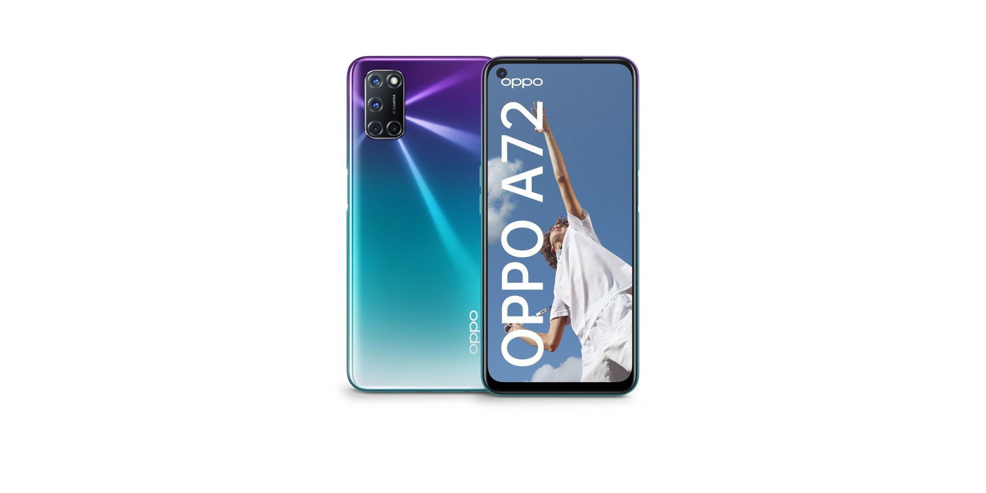 Smartphone OPPO A72 e A52.