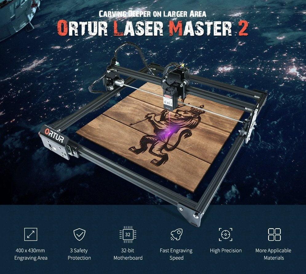 ORTUR Laser Master 2 s 15 W laserem.