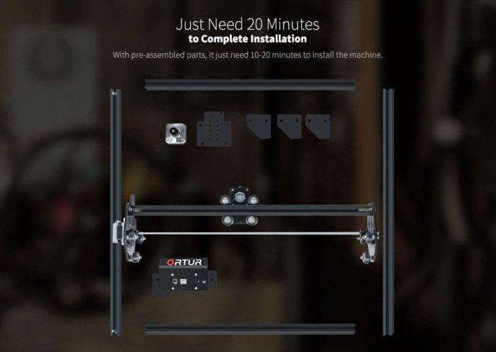 ORTUR Laser Master 2 lze nastavit za pouhých 20 minut.